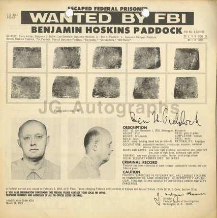 Обьявление о розыске Бэнджамина Пэддока Фото: ФБР