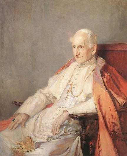 Лев XIII, портрет работы Ф. де Ласло, 1900 г.