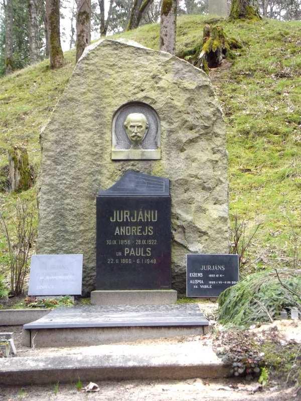 Могила Андрея Юрьяна в Риге на Лесном кладбище (nekropole.info)