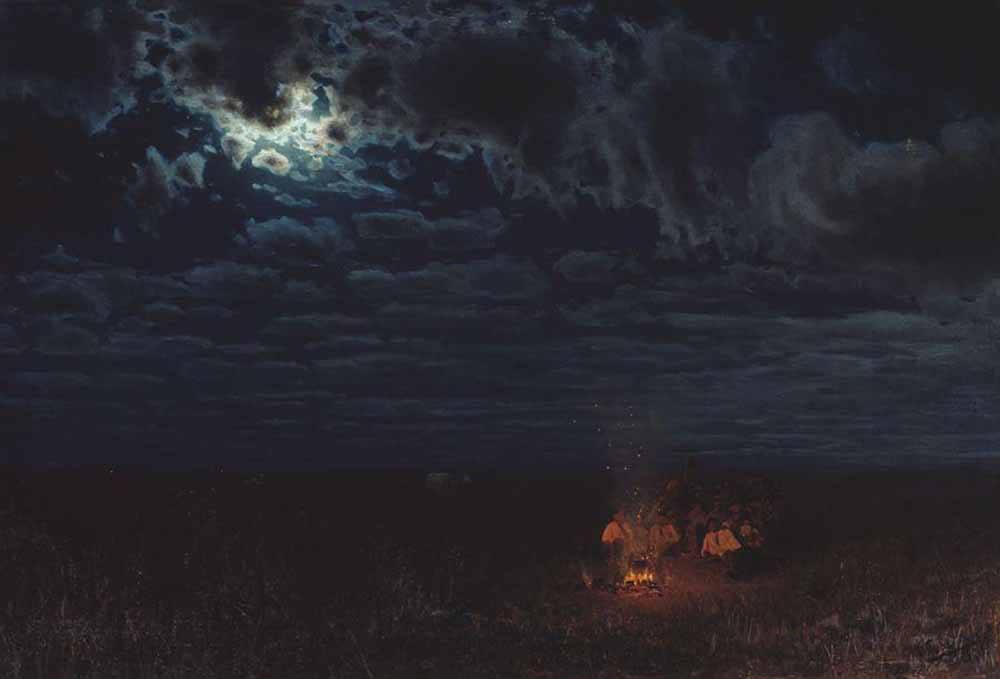 Николай Сергеев, 1889 г., «Ночью в степи»
