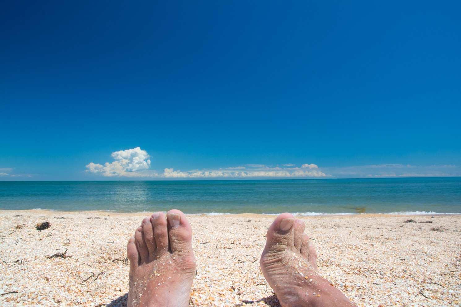 отпуск море азов небо облака радость жизнь