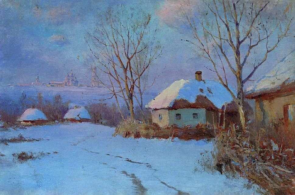 """Сергей Васильковский, """"Дома зимой"""" 1900-е годы"""